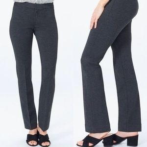 NYDJ Slim Trouser Pants Sz 6 Charcoal Heathered